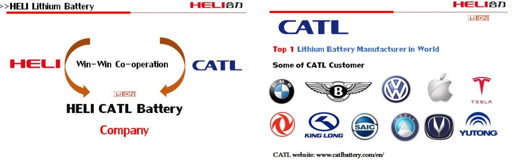 CALT battery Lithium for Heli forklift